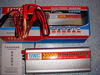 Инвертор 12/220V - 2000W преобразователь, инвертор напряжения UKC