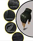 Армейские тактические перчатки для спецподразделений Half-Finger, фото 4