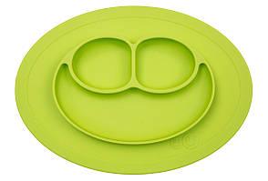EZPZ - Силиконовая тарелка Mini mat, цвет lime