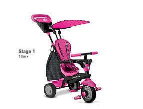 Трёхколёсный велосипед Glow 4 в 1, цвет розовый, Smart Trike (6402200)