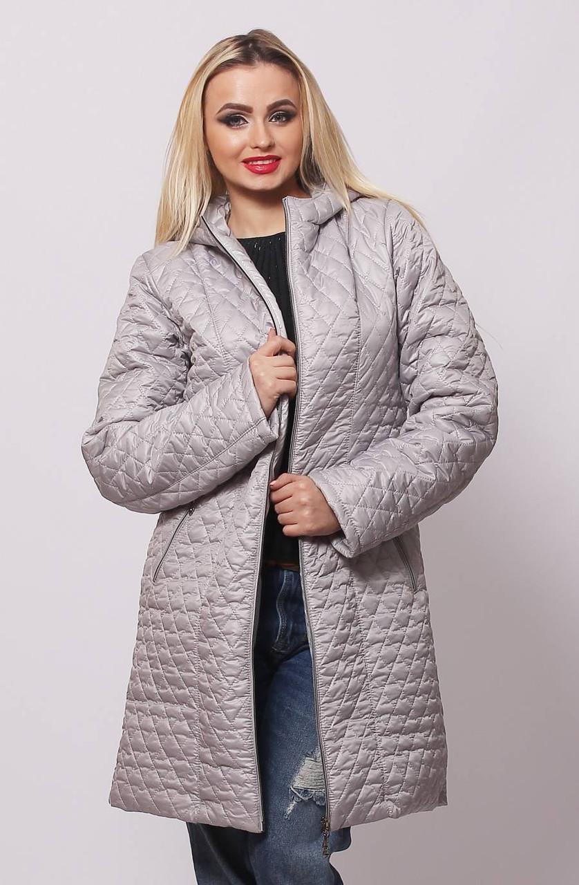 Куртка длинная стеганная из лаковой плащевки