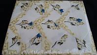 Красивая скатерть с вышивкой и 12 салфеток