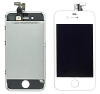 Дисплей (экран) для Apple iPhone 4 + с сенсором (тачскрином) белый Original
