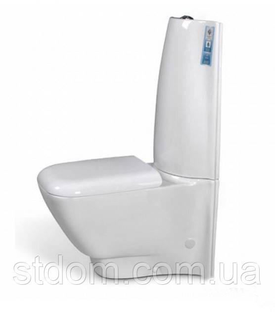 Унитаз напольный с сиденьем+бачок Aqua-World Grandis GS-1210+G-025PP СфГс.1210 белый