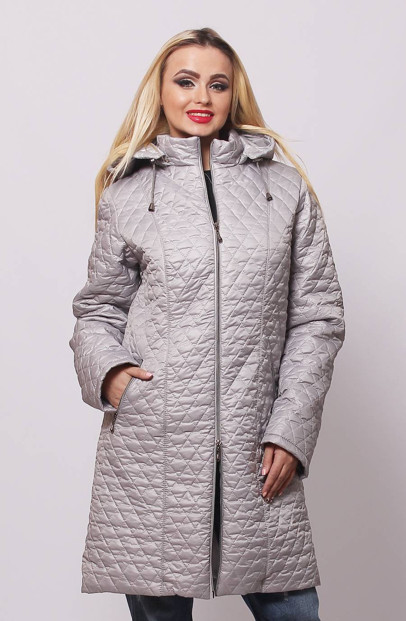 Куртка длинная со съемным капюшоном 40-76 размеры
