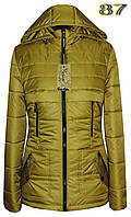 Женская демисезонная куртка с отстежным капюшоном. 42-56