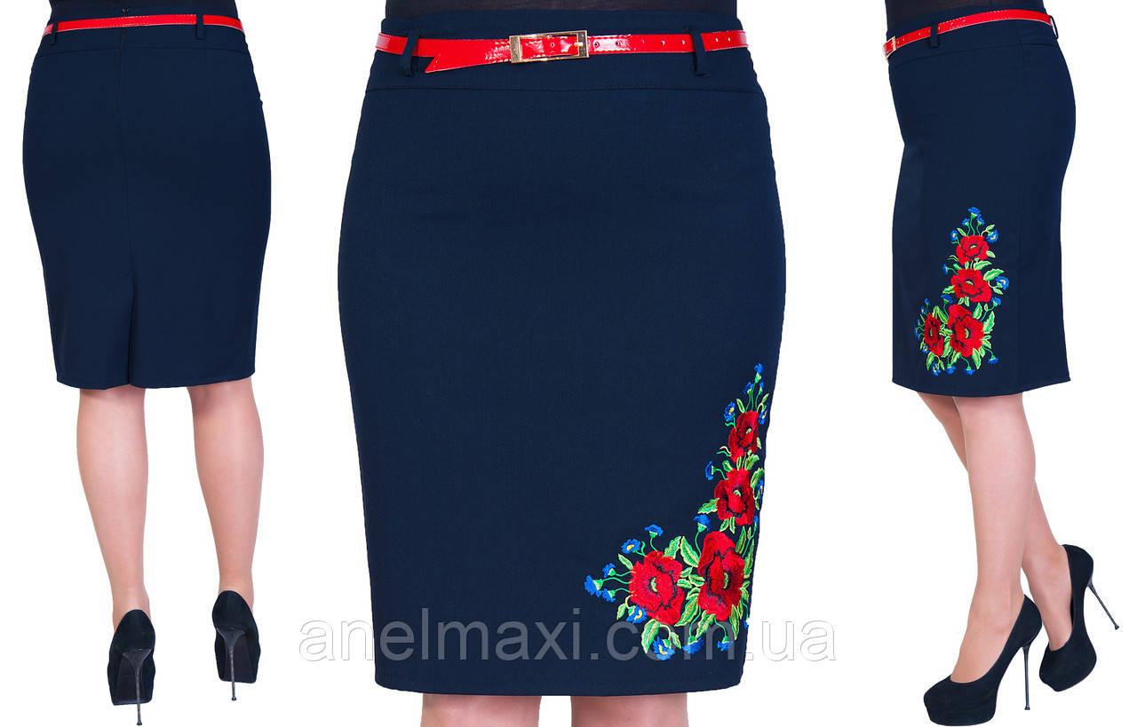 Женская юбка с вышивкой