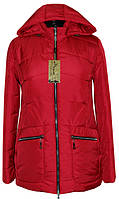 Модная женская куртка больших размеров, красного цвета от производителя