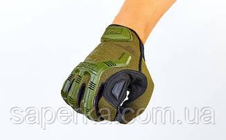 Перчатки тактические с пальцами MECHANIX WEAR Олива, фото 2
