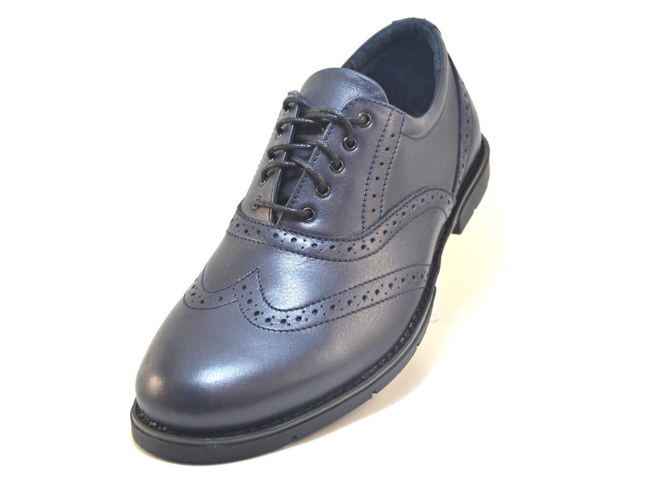 Туфли мужские кожаные броги Rosso Avangard Felicete Uomo Grey Pelle серые, фото 1