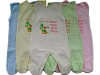 Ползунки детские высокие теплые (футер)