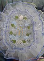 Пасхальные салфетки на корзину разные цвета, фото 1