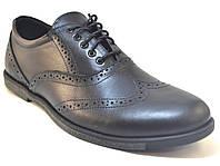 Туфли мужские кожаные броги черные Rosso Avangard Felicete Chiaro di luna Black Pelle