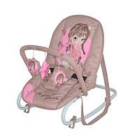 Детское кресло-качалка TOP RELAX BEIGE&ROSE PRINCESS