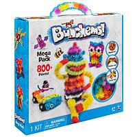 Детский конструктор липучка bunchems банчемс 800 предметов, вязкий пушистый шарик, фото 1