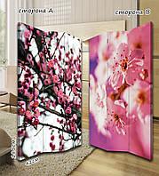 Ширма. перегородка Весенние розовые цветы 185 см