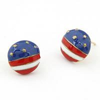 Серьги-гвоздики Американский Флаг S004601
