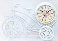 """Часы настольные """"Велосипед"""" с декором - 35-24-8 см см - белые"""