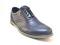 Туфли мужские кожаные синие броги Rosso Avangard Felicete Delizia Blu Pelle