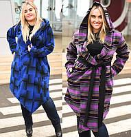 Женское  свободное легкое пальто батал