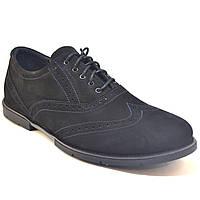 Туфли мужские замшевые броги Rosso Avangard Persona Uomo Сamoscio Nero черные, фото 1