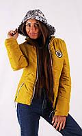 Женская куртка К-029 Горчица