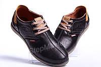 Туфли спортивные кожаные Clarks Desert Urban черные
