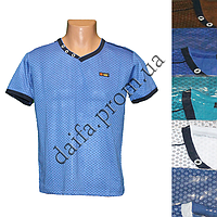 Мужская котоновая футболка 605 (в уп. до 5 разных расцветок) оптом со склада в Одессе