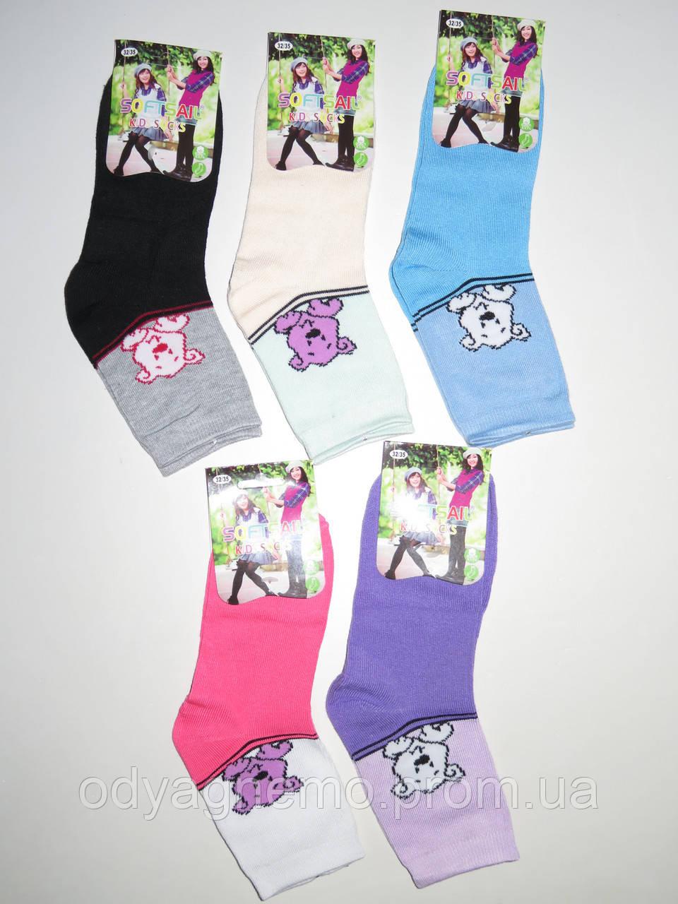 Детские носки для девочек Softsail оптом ,32/35-36/39 pp.