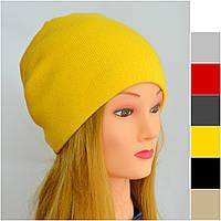 Женская и детская шапка Арктик Шапка-чулок, двойная. р.54-60. Унисекс. Т.синие, желт, лён, красн, темно-сер, черн