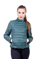 Молодежная женская куртка Леони зеленый (48-52)