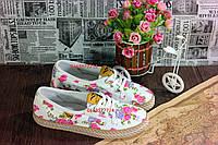 Женские мокасинчики в цветочек, отличное качество доступная стоимость ! В наличии !!!