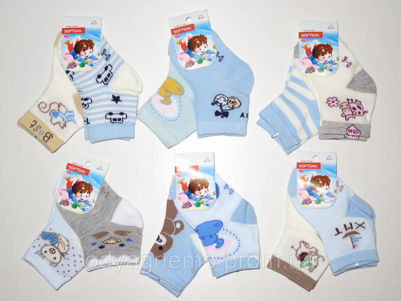 Детские носки для мальчиков Softsail оптом ,0/8-9/16 мес.