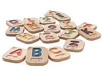 Деревянне буквы Plan Тoys - Алфавит Брайля A-Z