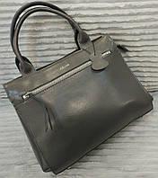 Кожаная сумка Celine Селин серая