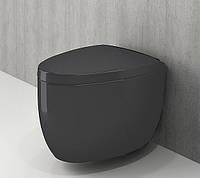 Унітаз підвісний BOCCHI ETNA 1116-020-0129+А0325-020 сидіння дюропласт Антрацит