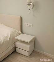 Прикроватная тумба Модена 2а, Ш600мм, Белая (3)