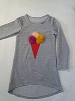 Туника трикотажная двухнитка для девочки р.128-146 Kids Wear, Турция