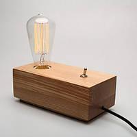 НАСТОЛЬНЫЙ СВЕТИЛЬНИК [ LOFT DEKT LAMP wood ]