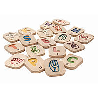 Деревянне буквы Plan Тoys - Алфавит языка жестов A-Z