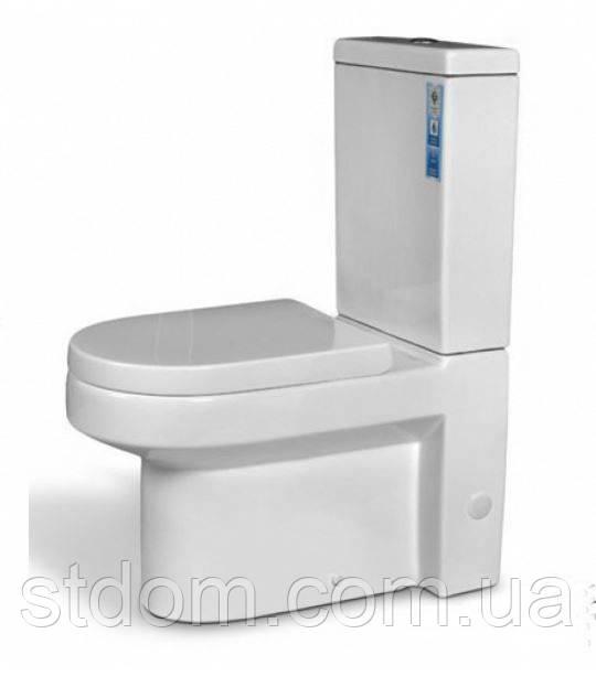 Унитаз напольный с сиденьем+бачок Aqua-World Hilton HL-0753+G-008PP СфХн.0753 белый