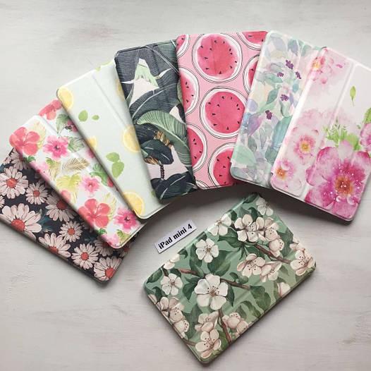 Пластиковый чехол Smart case с цветами для iPad mini 4