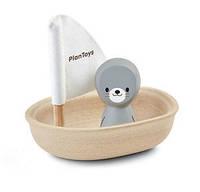 Деревянная игрушка Plan Тoys - Тюлень в лодке паруснике