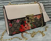 Модная и стильная сумка-клатч Gucci Гуччи цвет бежевый, фото 1