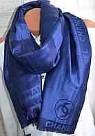 Палантин шарф Chanel (Шанель) синий