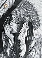 Схемы для вышивки бисером Вождь Белая Птица