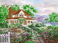 Схемы для вышивки бисером Домик окнами в сад…