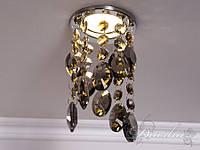 Светильник с подвесками из пепельного 6019-E-CH-