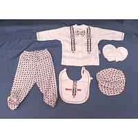 Набор для новорожденного 5 в 1 «Ромб» красный