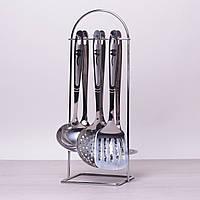 Набор кухонных принадлежностей Kamille 6 предметов в комплекте с подставкой 5230